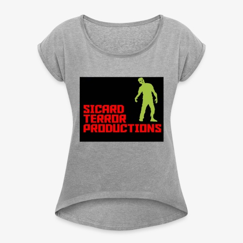 Sicard Terror Productions Merchandise - Women's Roll Cuff T-Shirt