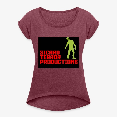 Sicard Terror Productions Merchandise - Women's Roll Cuff T-Shirt