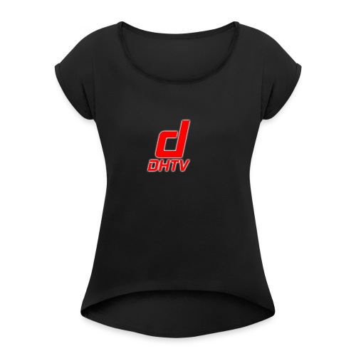 DHTV_Logo_New - Women's Roll Cuff T-Shirt