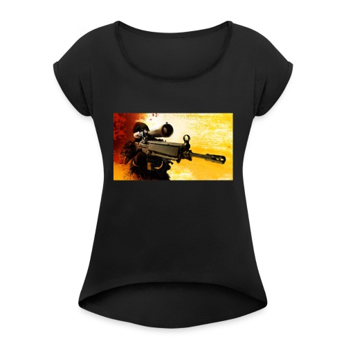 CS-GO-UL LUI ALEX - Women's Roll Cuff T-Shirt