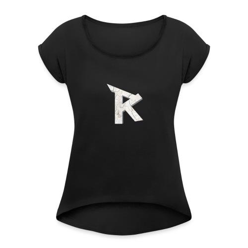 RaDe Militia Logo - Women's Roll Cuff T-Shirt
