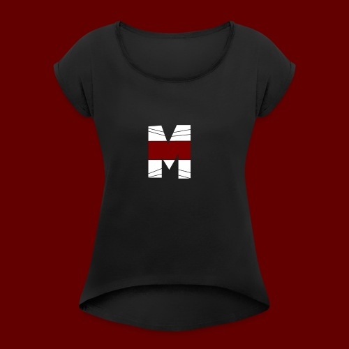 WHITE AND RED M Season 2 - Women's Roll Cuff T-Shirt
