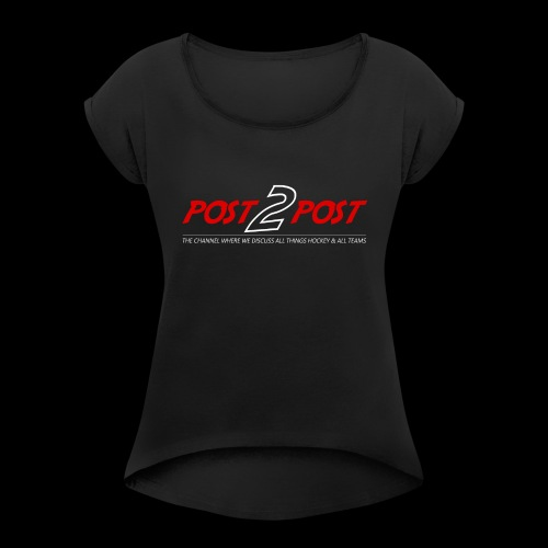 Post2Post Text - Women's Roll Cuff T-Shirt