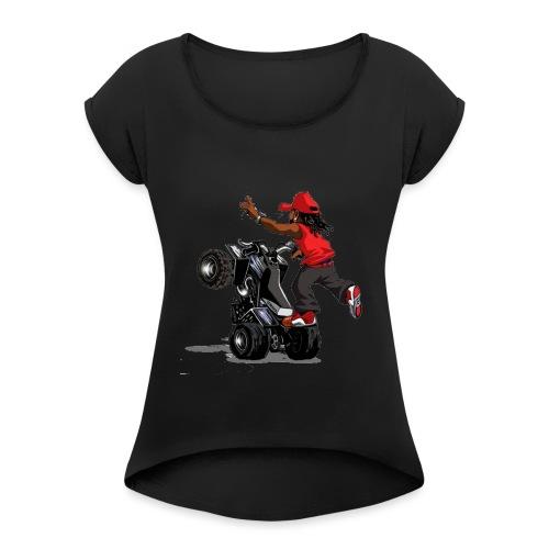 yamaha banshee stunt - Women's Roll Cuff T-Shirt
