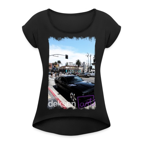Los Angeles Part 3 - Women's Roll Cuff T-Shirt
