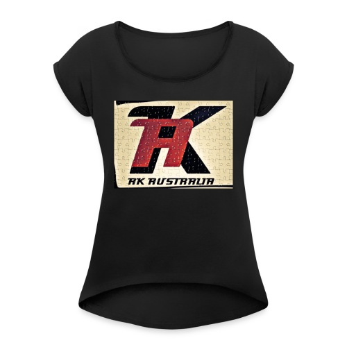 AK AUSTRALIA LADIES T-SHIRT - Women's Roll Cuff T-Shirt