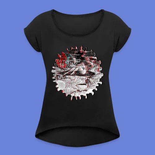 A Sleepy World NO 2 - Women's Roll Cuff T-Shirt