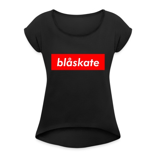 blåskate Box Logo - Women's Roll Cuff T-Shirt