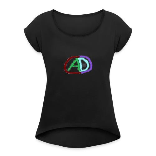 hoodies with anmol and daniel logo - Women's Roll Cuff T-Shirt
