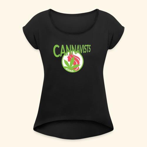 CANNAVIST logo - Women's Roll Cuff T-Shirt