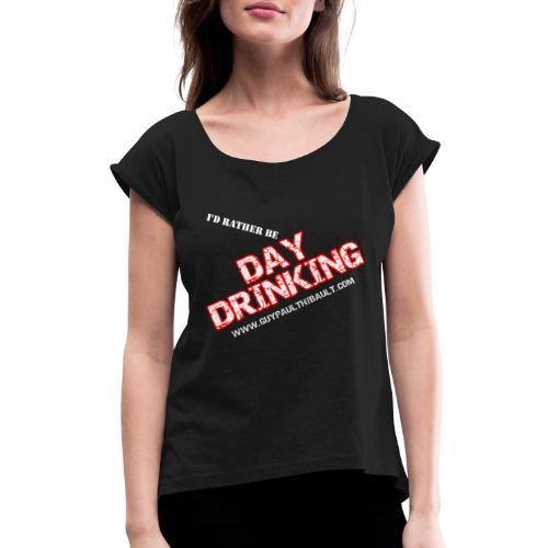 SHIRT trans - Women's Roll Cuff T-Shirt