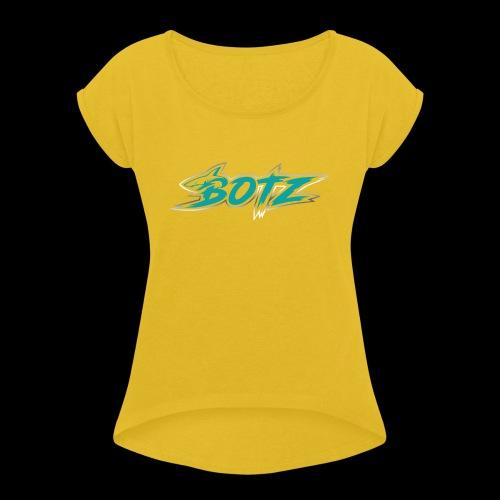 BOTZ Teal Logo - Women's Roll Cuff T-Shirt