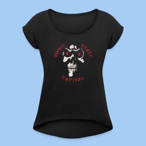 SSC-Scull - Women's Roll Cuff T-Shirt