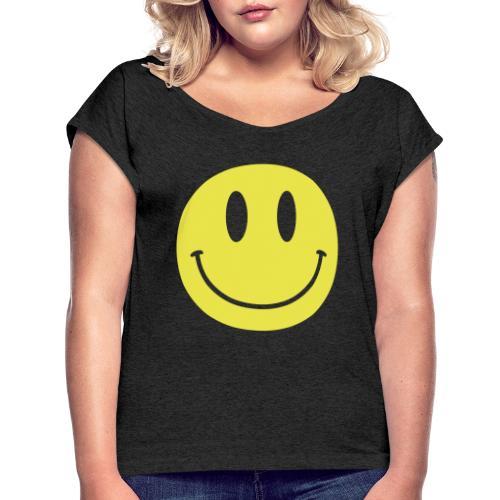Smiley - Women's Roll Cuff T-Shirt