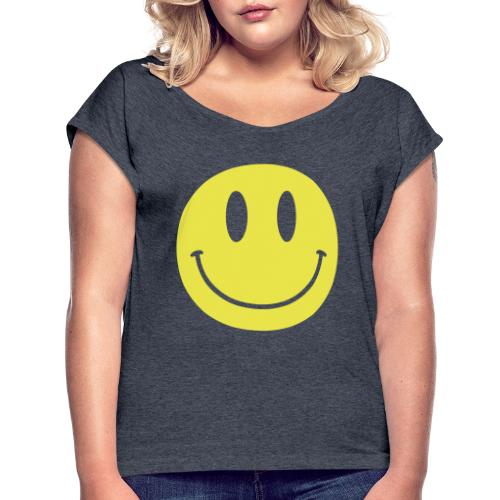 Smiley - Women's Roll Cuff T-Shirt