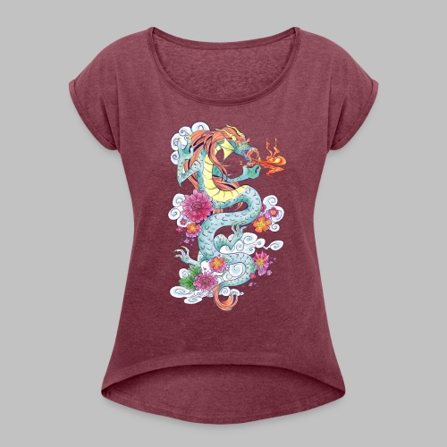 Nash's Dragon - Women's Roll Cuff T-Shirt