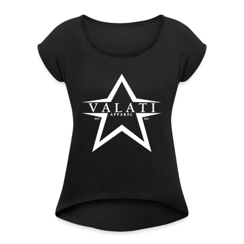 V-Star White - Women's Roll Cuff T-Shirt