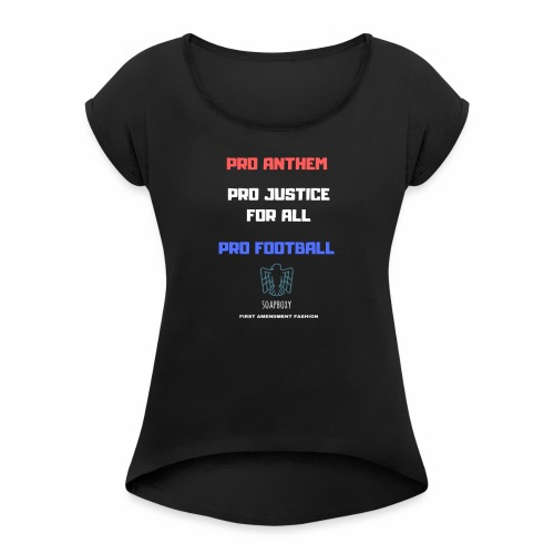 Pro Football Tee and Hoodie - Women's Roll Cuff T-Shirt