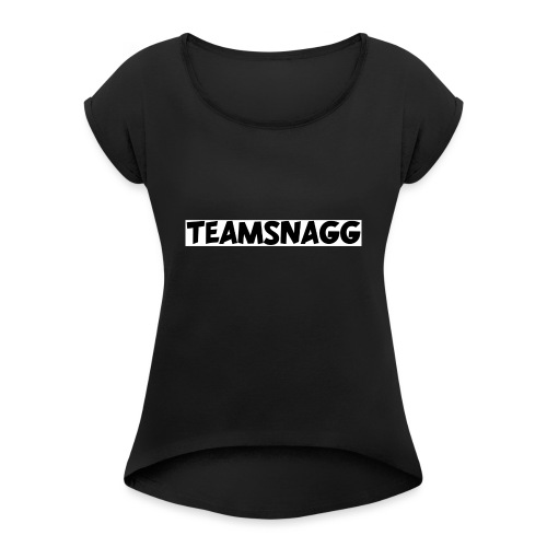 TeamSnagg Logo - Women's Roll Cuff T-Shirt