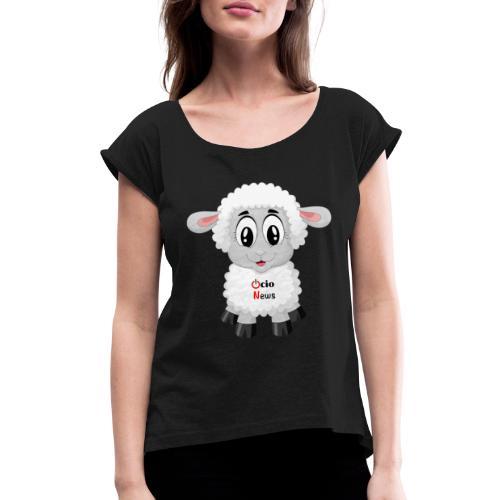 Lamb OcioNews - Women's Roll Cuff T-Shirt