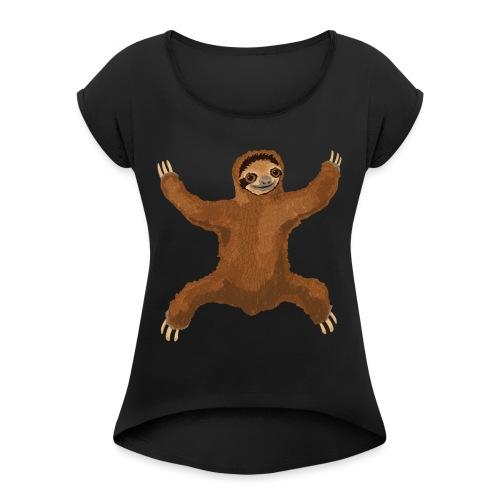 Sloth Love Hug - Women's Roll Cuff T-Shirt