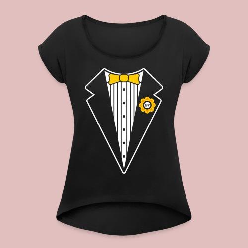 Keep It Classy Tux Shirt - Women's Roll Cuff T-Shirt