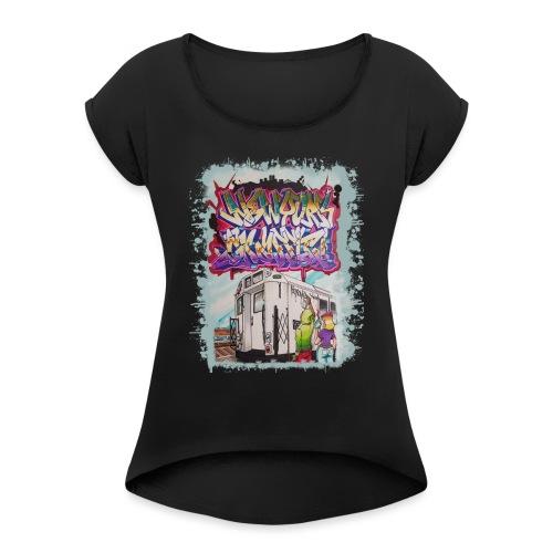 STEM - Design for NYG - Women's Roll Cuff T-Shirt