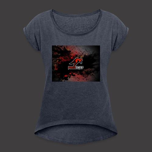 RedOpz Splatter - Women's Roll Cuff T-Shirt