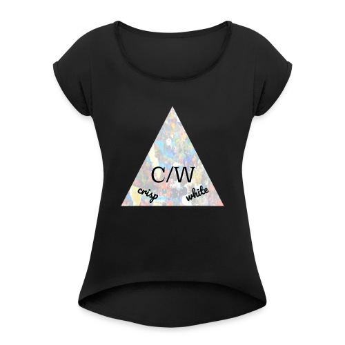 crisp white - Women's Roll Cuff T-Shirt