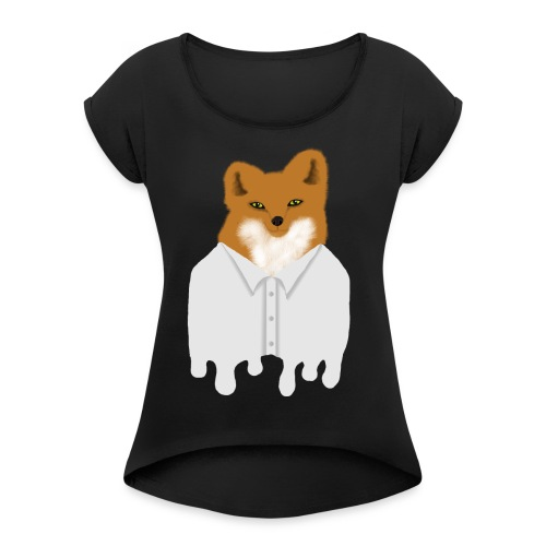 Fancy Fox - Women's Roll Cuff T-Shirt