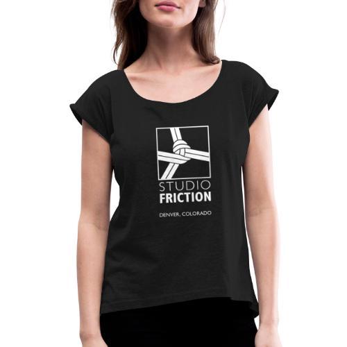 Studio Friction White - Women's Roll Cuff T-Shirt