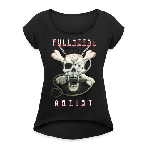 Heavy Metal FMA Skull - Women's Roll Cuff T-Shirt