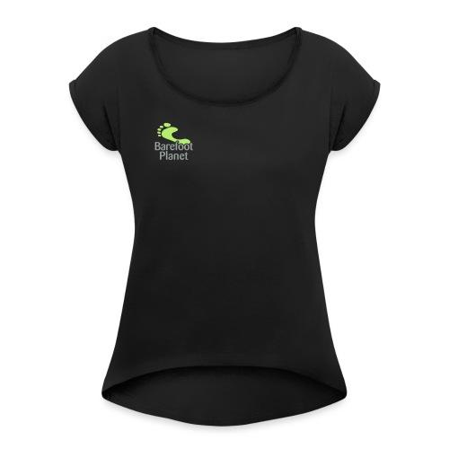 Barefoot Running 1 Women's T-Shirts - Women's Roll Cuff T-Shirt