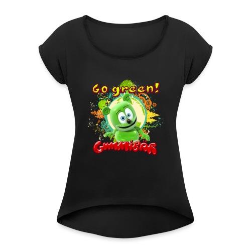 Gummibär Go Green Earth Day Trees - Women's Roll Cuff T-Shirt