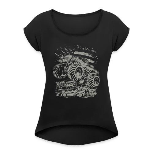 Monster Truck USA - Women's Roll Cuff T-Shirt