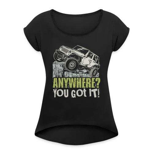 Jeep Anywhere - Women's Roll Cuff T-Shirt
