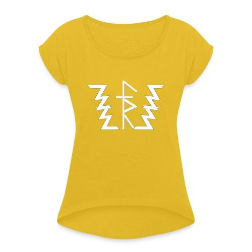 Faith Runnerz Tee Logo - Women's Roll Cuff T-Shirt