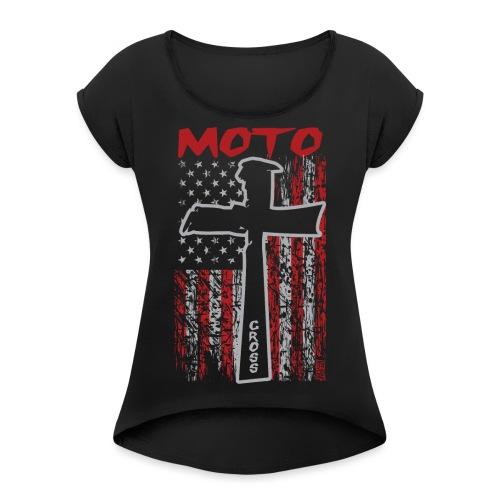 Motocross Christian - Women's Roll Cuff T-Shirt