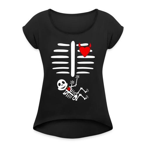 Halloween Pregnancy - Women's Roll Cuff T-Shirt