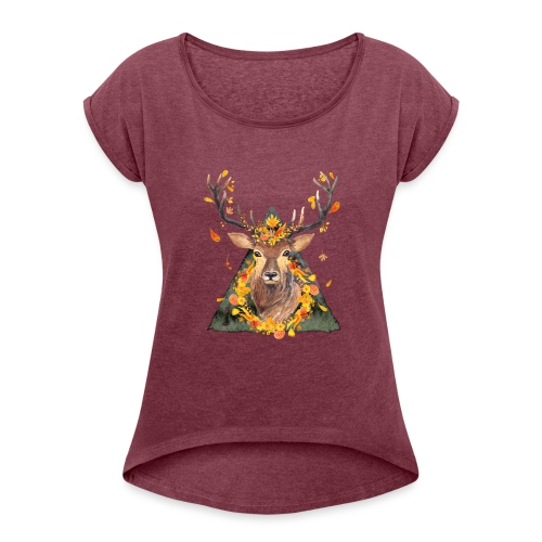 The Spirit of the Forest - Women's Roll Cuff T-Shirt