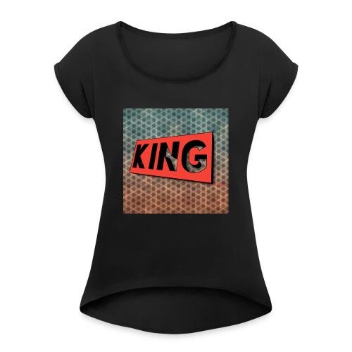 kingcreeper7972 logo - Women's Roll Cuff T-Shirt