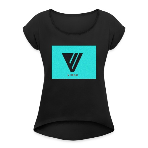 Virgo : Color - Women's Roll Cuff T-Shirt