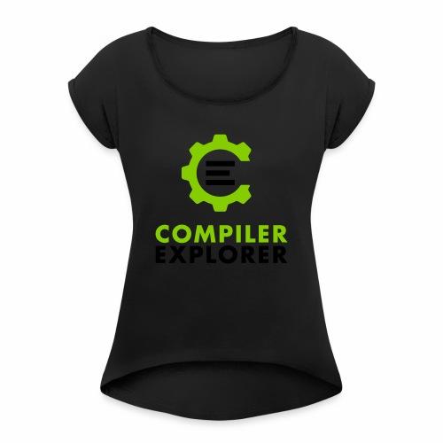 Logo and text - Women's Roll Cuff T-Shirt