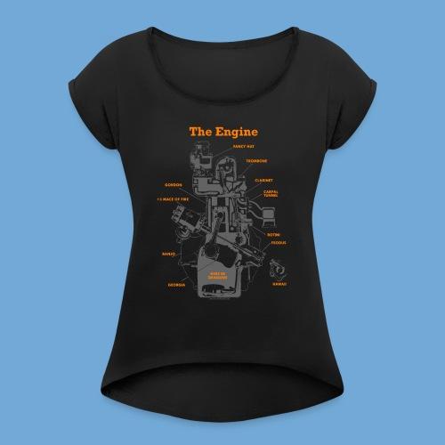 Engine Diagram - Women's Roll Cuff T-Shirt
