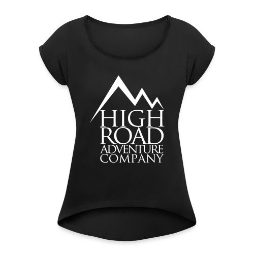 High Road Adventure Company Logo - Women's Roll Cuff T-Shirt