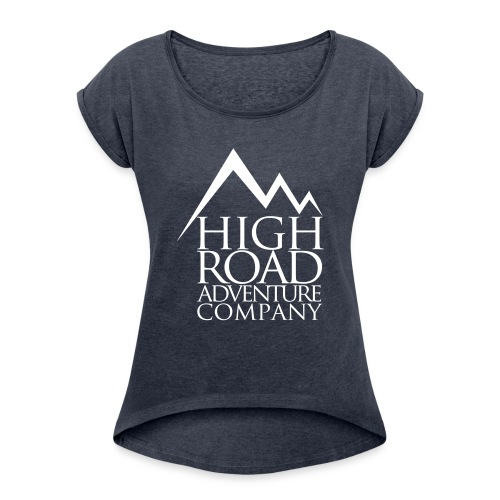 High Road Adventure Company Logo - Women's Roll Cuff T-Shirt