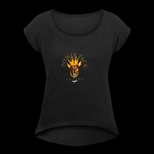 Power Pack Empire Official Logo - Women's Roll Cuff T-Shirt