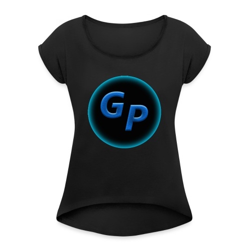 Large Logo Without Panther - Women's Roll Cuff T-Shirt