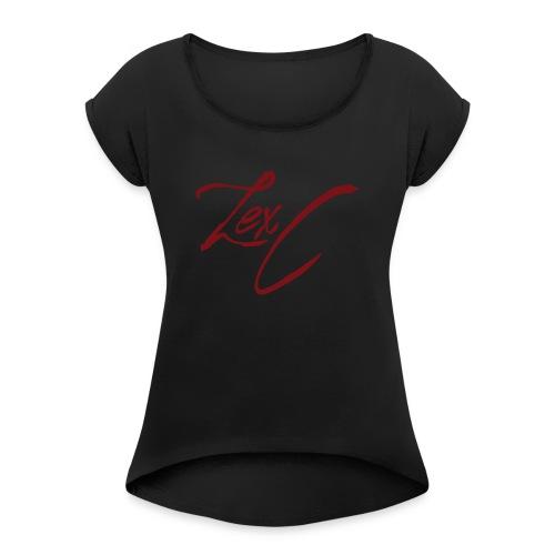 LexC Logo - Women's Roll Cuff T-Shirt
