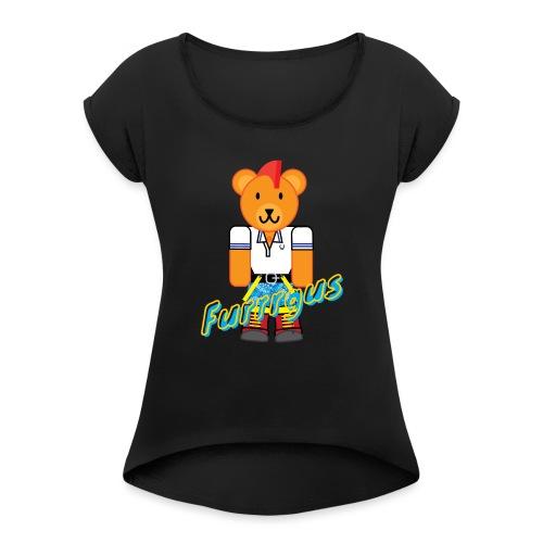 Skinhead Furrrgus - Women's Roll Cuff T-Shirt